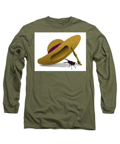 Straw Hat And Stag Beetle Long Sleeve T-Shirt