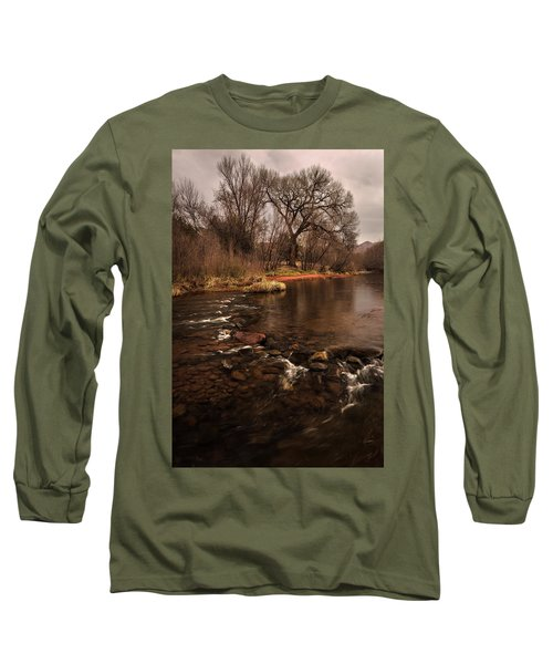 Stream And Tree Long Sleeve T-Shirt