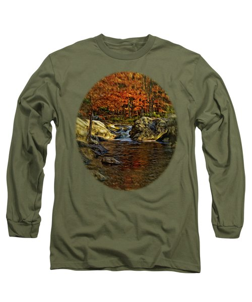 Stream In Autumn 57 In Oil Long Sleeve T-Shirt by Mark Myhaver