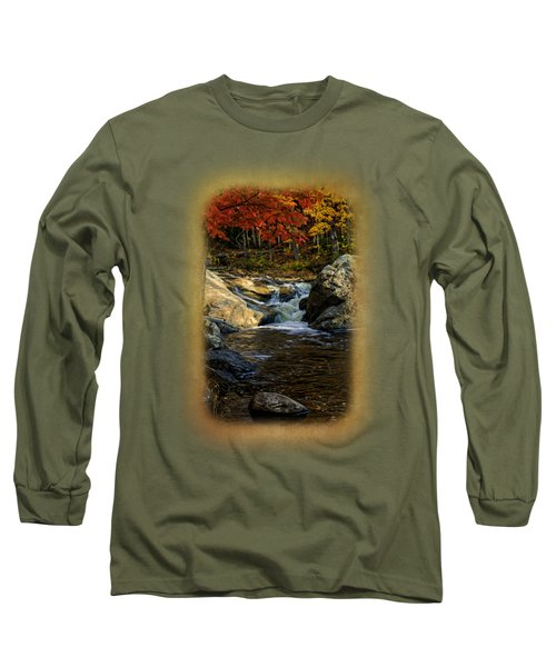 Stream In Autumn No.17 Long Sleeve T-Shirt by Mark Myhaver