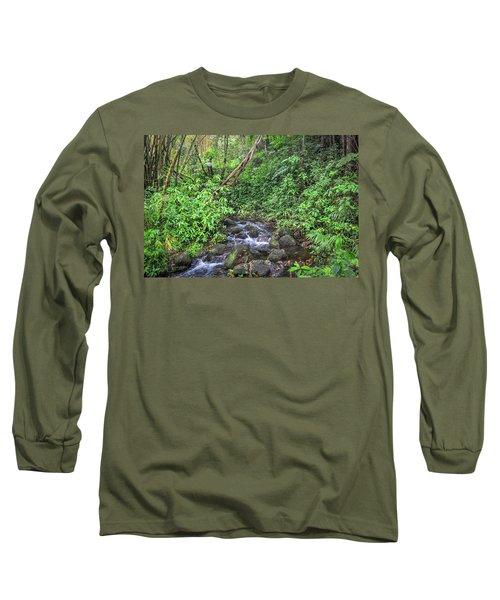 Stream In The Rainforest Long Sleeve T-Shirt