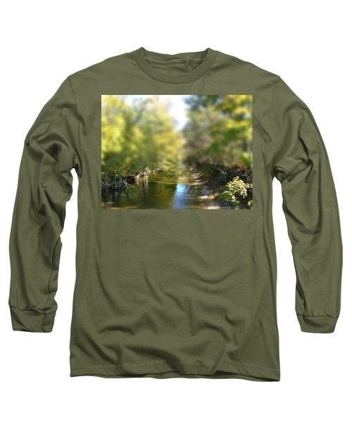 Stream Reflections Long Sleeve T-Shirt by EricaMaxine  Price