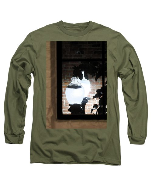 Long Sleeve T-Shirt featuring the photograph Street Light Through Window by Viktor Savchenko