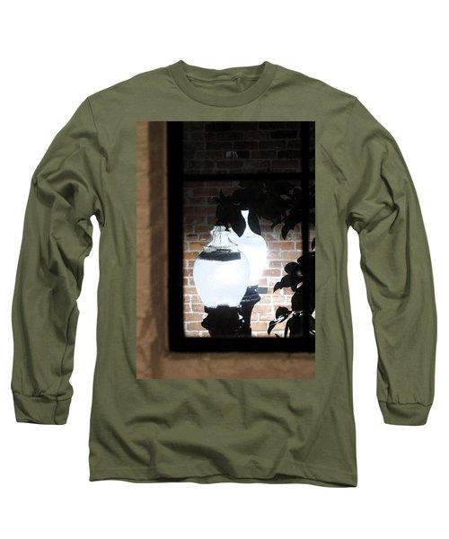 Street Light Through Window Long Sleeve T-Shirt by Viktor Savchenko