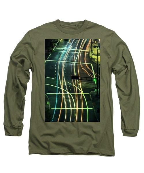 Street Lights Long Sleeve T-Shirt by Scott Meyer