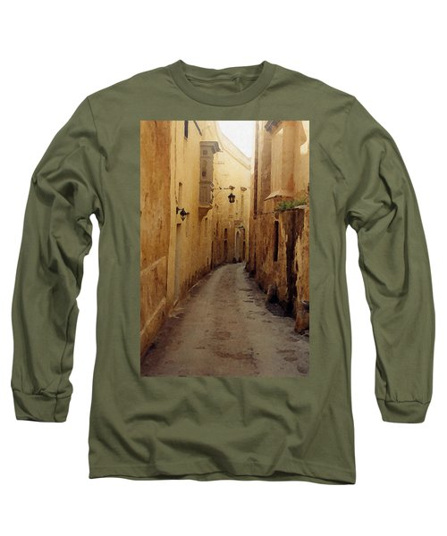 Long Sleeve T-Shirt featuring the photograph Streets Of Malta by Debbie Karnes