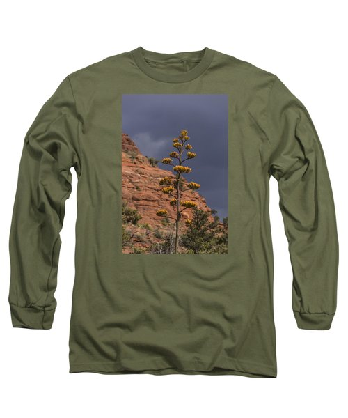 Long Sleeve T-Shirt featuring the photograph Stretching Into A Threatening Sky by Laura Pratt