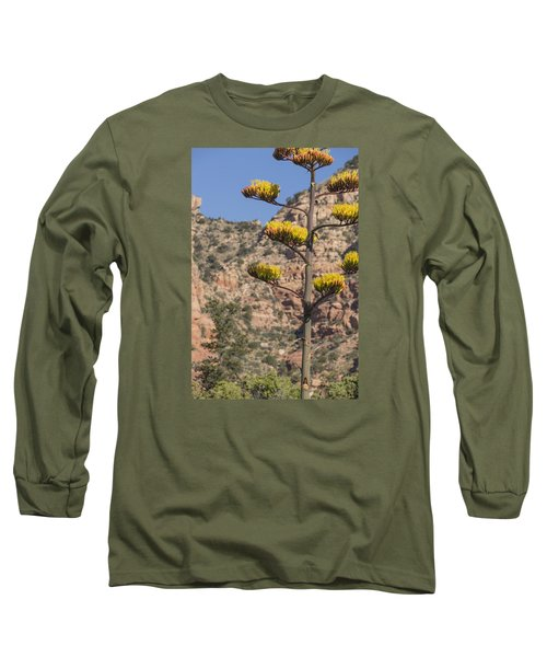 Long Sleeve T-Shirt featuring the photograph Stretching Tall by Laura Pratt