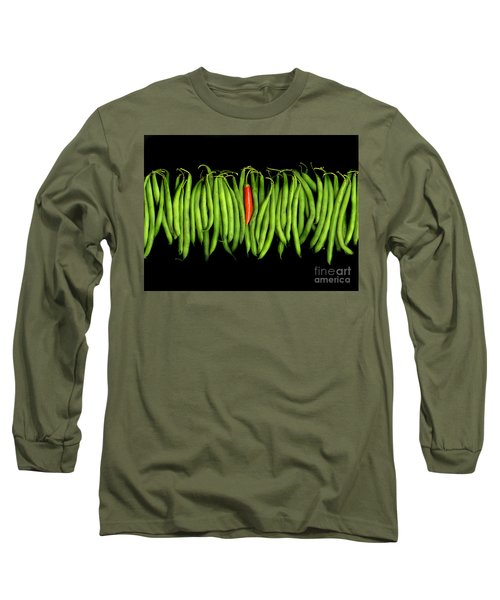 Stringbeans And Chilli Long Sleeve T-Shirt by Christian Slanec