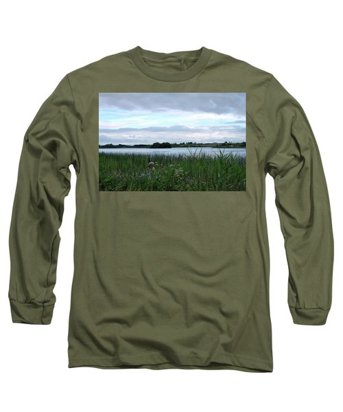 Long Sleeve T-Shirt featuring the photograph Strolling By The Lake by Terence Davis