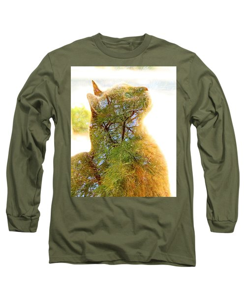 Stuck In Cat Long Sleeve T-Shirt