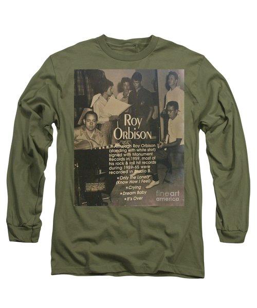 Studio B Roy Orbison  Long Sleeve T-Shirt by Chuck Kuhn