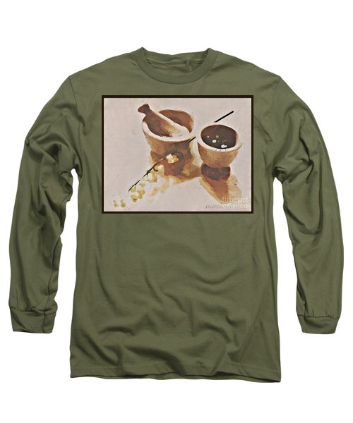 Study In Brown Long Sleeve T-Shirt by Alexis Rotella