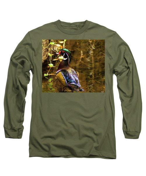 Stunning Wood Duck Long Sleeve T-Shirt
