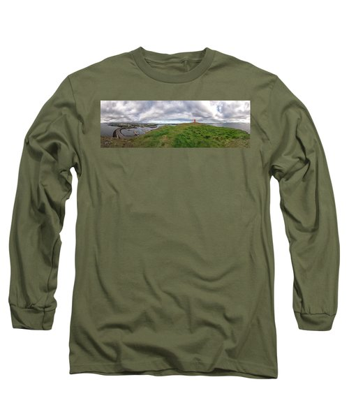 Stykkisholmur Harbor Pano Long Sleeve T-Shirt