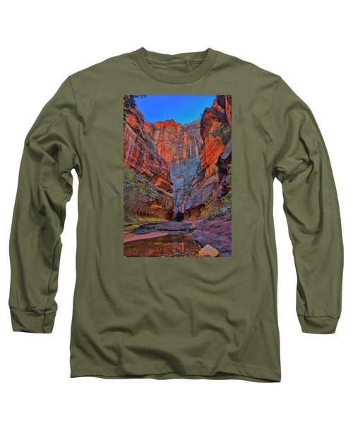 Subway Entrance Long Sleeve T-Shirt by Greg Norrell