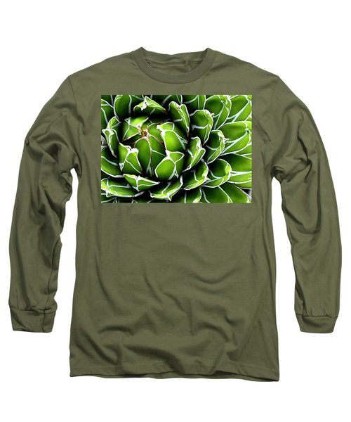 Succulent In Color Long Sleeve T-Shirt by Ranjini Kandasamy