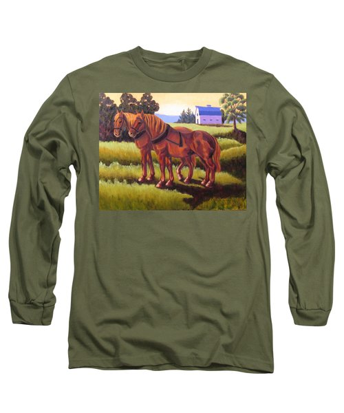 Suffolk Punch Day Is Done Long Sleeve T-Shirt