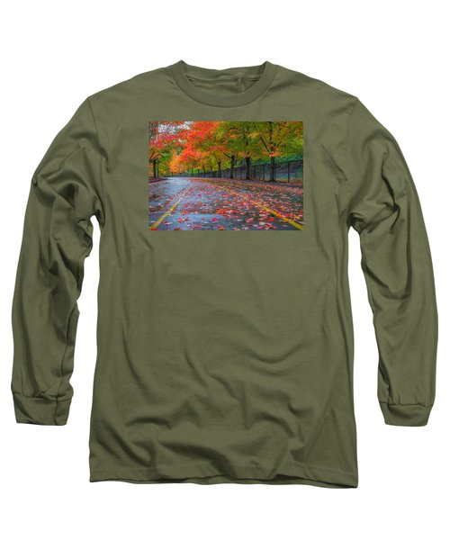 Sugar Maple Drive Long Sleeve T-Shirt by Ken Stanback