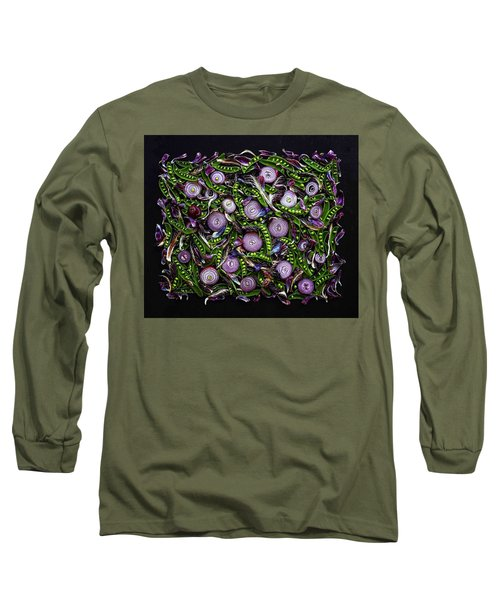 Sugar Snap Peas And Red Onion Mix Long Sleeve T-Shirt