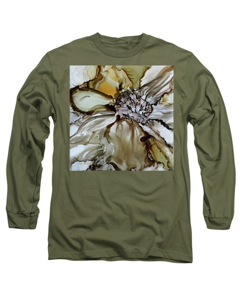 Long Sleeve T-Shirt featuring the painting Sultry Petals by Joanne Smoley