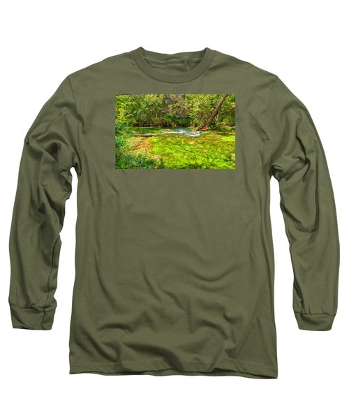 Long Sleeve T-Shirt featuring the photograph Summer At Alley Springs by John M Bailey