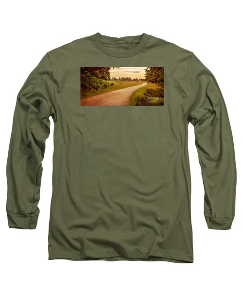 Long Sleeve T-Shirt featuring the photograph Summer At Bradgate Park Leicestershire by Linsey Williams