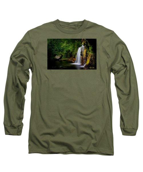Long Sleeve T-Shirt featuring the photograph Summer At Wolf Creek Falls by Rikk Flohr