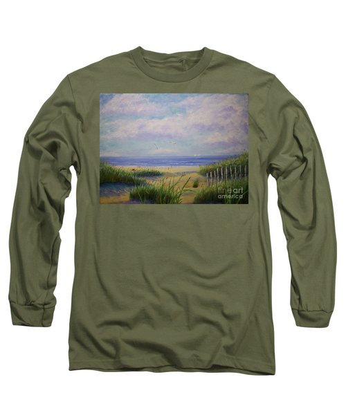 Summer Day At The Beach Long Sleeve T-Shirt by Stanton Allaben