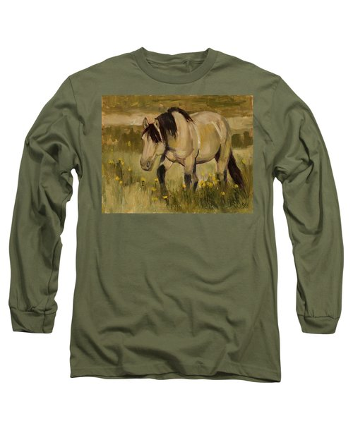 Long Sleeve T-Shirt featuring the painting Summer Days by Billie Colson