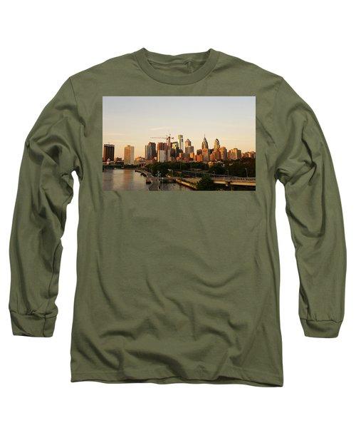 Summer Evening In Philadelphia Long Sleeve T-Shirt by Ed Sweeney