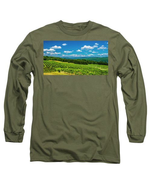 Long Sleeve T-Shirt featuring the photograph Summer Fields by Steven Ainsworth
