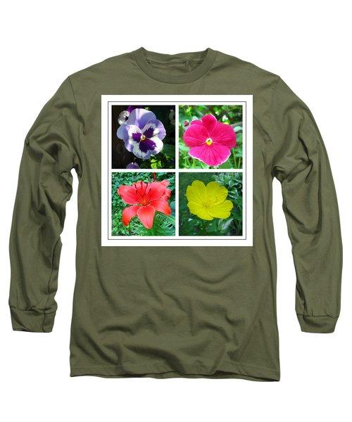 Summer Flowers Window Long Sleeve T-Shirt by Maciek Froncisz