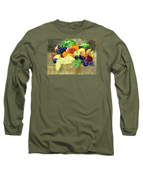 Summer Harvest Long Sleeve T-Shirt by Sharon Mick