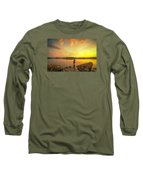 Long Sleeve T-Shirt featuring the painting Summer Joy by Rose-Maries Pictures