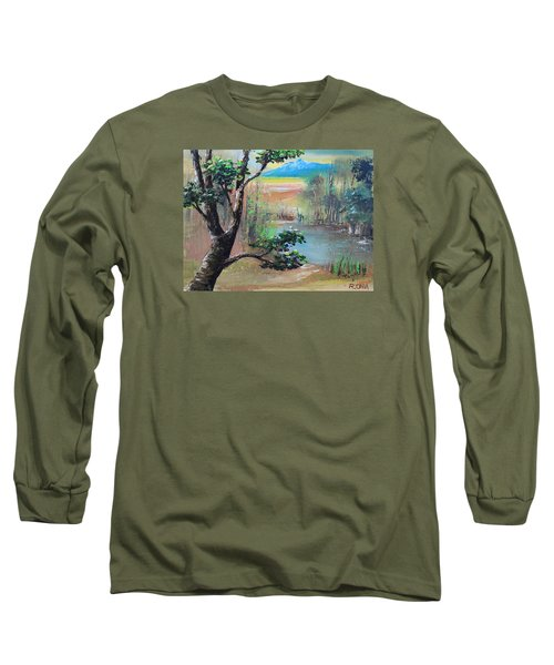 Summer Leaves Long Sleeve T-Shirt by Remegio Onia