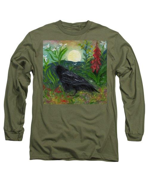 Summer Moon Raven Long Sleeve T-Shirt