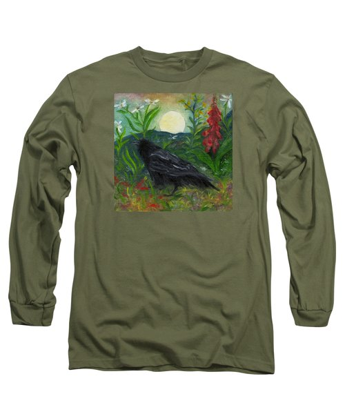 Summer Moon Raven Long Sleeve T-Shirt