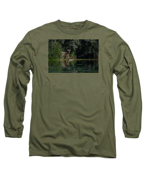 Summer Morning Walk Long Sleeve T-Shirt by Ernie Echols