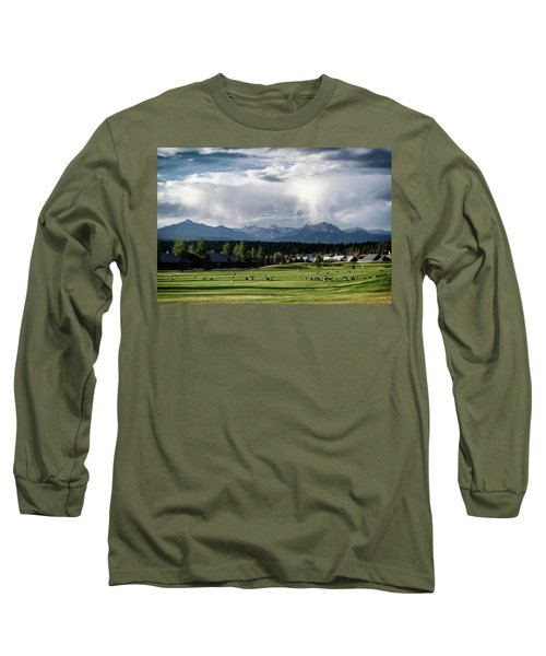 Summer Mountain Paradise Long Sleeve T-Shirt