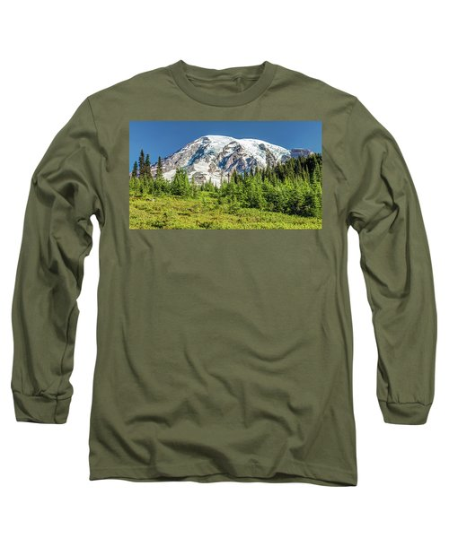 Long Sleeve T-Shirt featuring the photograph Summer On Mount Rainier by Pierre Leclerc Photography