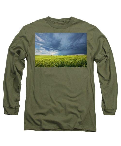 Summer Storm Over Alberta Long Sleeve T-Shirt