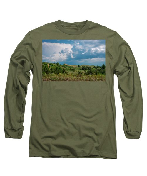 Summer Storm Over The Dunes Long Sleeve T-Shirt