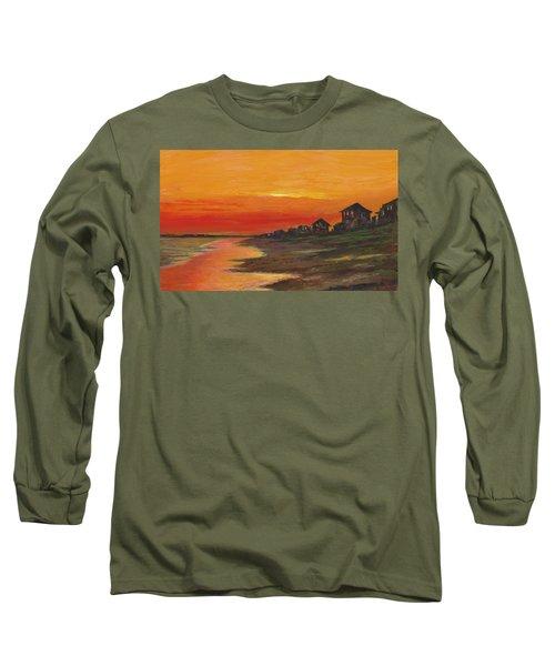 Summer Sunset At  Crystal Beach Long Sleeve T-Shirt