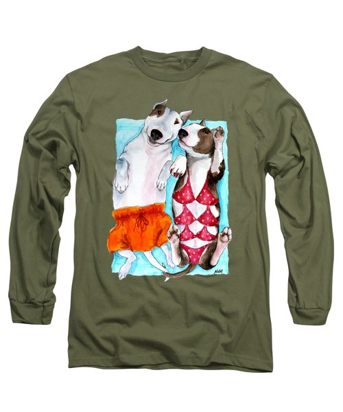 Summer Time Long Sleeve T-Shirt by Jindra Noewi
