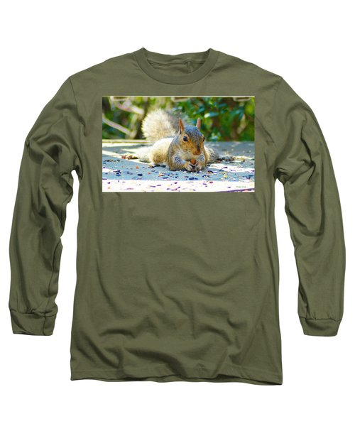 Sun Bathing Squirrel Long Sleeve T-Shirt