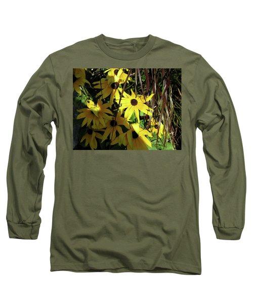 Sun Lit Diasies Long Sleeve T-Shirt by Michele Wilson