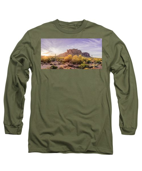 Sun Peaking At Lost Dutchman State Park - Apache Junction Arizona Long Sleeve T-Shirt