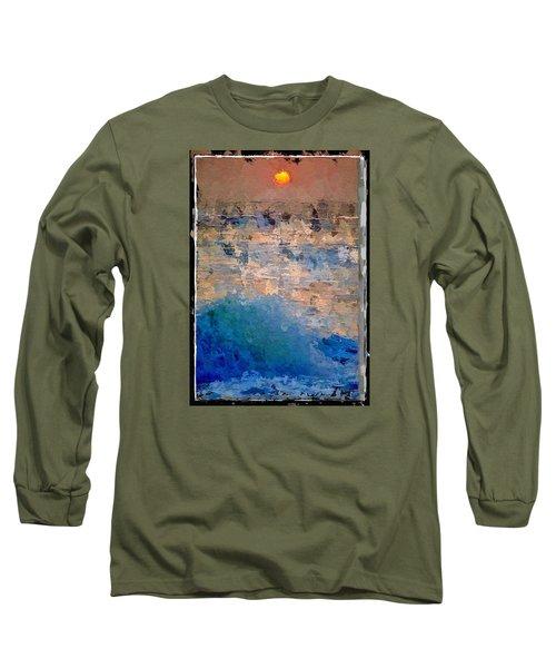 Sun Rays Abstract Long Sleeve T-Shirt