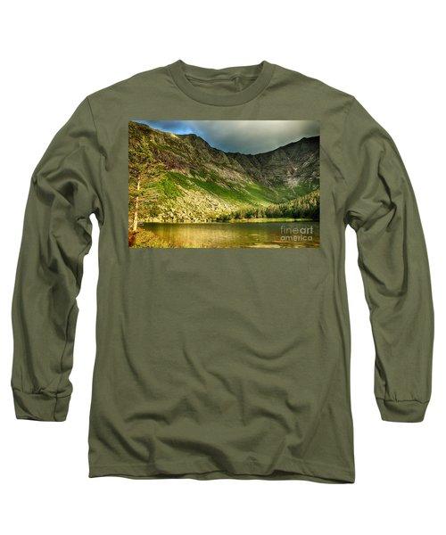 Sun Shining On Chimney Pond  Long Sleeve T-Shirt by Elizabeth Dow